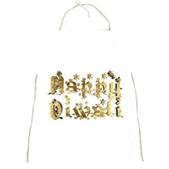 Happy Diwali Gold Golden Stars Star Festival Of Lights Deepavali Typography Full Print Aprons