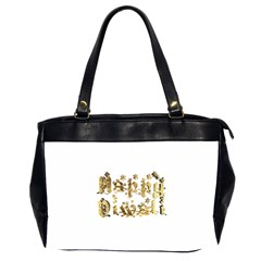Happy Diwali Gold Golden Stars Star Festival Of Lights Deepavali Typography Office Handbags (2 Sides)