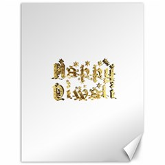 Happy Diwali Gold Golden Stars Star Festival Of Lights Deepavali Typography Canvas 12  X 16