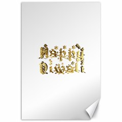 Happy Diwali Gold Golden Stars Star Festival Of Lights Deepavali Typography Canvas 24  X 36