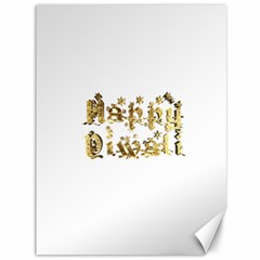 Happy Diwali Gold Golden Stars Star Festival Of Lights Deepavali Typography Canvas 36  X 48