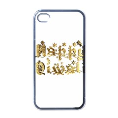 Happy Diwali Gold Golden Stars Star Festival Of Lights Deepavali Typography Apple Iphone 4 Case (black)