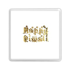 Happy Diwali Gold Golden Stars Star Festival Of Lights Deepavali Typography Memory Card Reader (square)