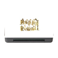 Happy Diwali Gold Golden Stars Star Festival Of Lights Deepavali Typography Memory Card Reader With Cf