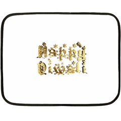 Happy Diwali Gold Golden Stars Star Festival Of Lights Deepavali Typography Fleece Blanket (mini)