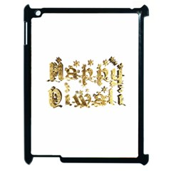 Happy Diwali Gold Golden Stars Star Festival Of Lights Deepavali Typography Apple Ipad 2 Case (black)