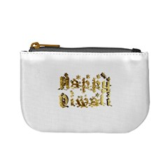 Happy Diwali Gold Golden Stars Star Festival Of Lights Deepavali Typography Mini Coin Purses