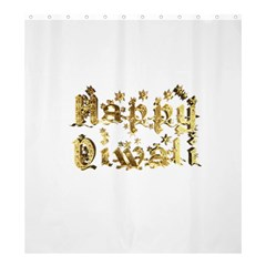Happy Diwali Gold Golden Stars Star Festival Of Lights Deepavali Typography Shower Curtain 66  X 72  (large)