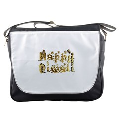 Happy Diwali Gold Golden Stars Star Festival Of Lights Deepavali Typography Messenger Bags