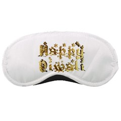 Happy Diwali Gold Golden Stars Star Festival Of Lights Deepavali Typography Sleeping Masks