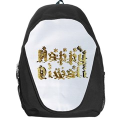 Happy Diwali Gold Golden Stars Star Festival Of Lights Deepavali Typography Backpack Bag