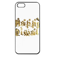 Happy Diwali Gold Golden Stars Star Festival Of Lights Deepavali Typography Apple Iphone 5 Seamless Case (black)