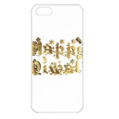 Happy Diwali Gold Golden Stars Star Festival Of Lights Deepavali Typography Apple Iphone 5 Seamless Case (white)