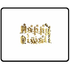 Happy Diwali Gold Golden Stars Star Festival Of Lights Deepavali Typography Fleece Blanket (medium)