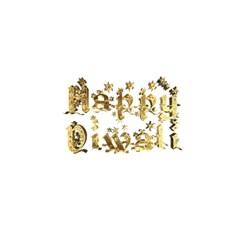 Happy Diwali Gold Golden Stars Star Festival Of Lights Deepavali Typography Shower Curtain 48  X 72  (small)