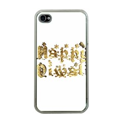 Happy Diwali Gold Golden Stars Star Festival Of Lights Deepavali Typography Apple Iphone 4 Case (clear)