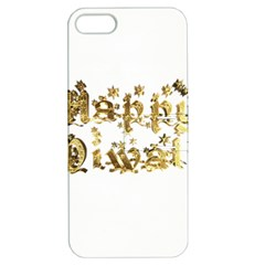 Happy Diwali Gold Golden Stars Star Festival Of Lights Deepavali Typography Apple Iphone 5 Hardshell Case With Stand