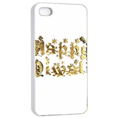 Happy Diwali Gold Golden Stars Star Festival Of Lights Deepavali Typography Apple Iphone 4/4s Seamless Case (white)