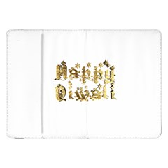 Happy Diwali Gold Golden Stars Star Festival Of Lights Deepavali Typography Samsung Galaxy Tab 8 9  P7300 Flip Case