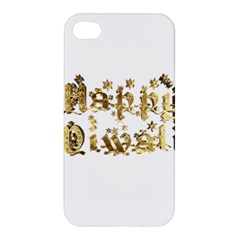 Happy Diwali Gold Golden Stars Star Festival Of Lights Deepavali Typography Apple Iphone 4/4s Hardshell Case