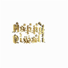 Happy Diwali Gold Golden Stars Star Festival Of Lights Deepavali Typography Small Garden Flag (two Sides)