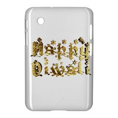 Happy Diwali Gold Golden Stars Star Festival Of Lights Deepavali Typography Samsung Galaxy Tab 2 (7 ) P3100 Hardshell Case