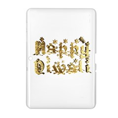 Happy Diwali Gold Golden Stars Star Festival Of Lights Deepavali Typography Samsung Galaxy Tab 2 (10 1 ) P5100 Hardshell Case