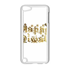 Happy Diwali Gold Golden Stars Star Festival Of Lights Deepavali Typography Apple Ipod Touch 5 Case (white)