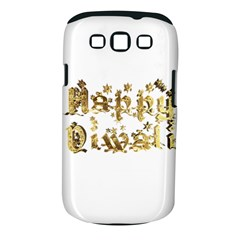 Happy Diwali Gold Golden Stars Star Festival Of Lights Deepavali Typography Samsung Galaxy S Iii Classic Hardshell Case (pc+silicone)