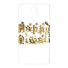Happy Diwali Gold Golden Stars Star Festival Of Lights Deepavali Typography Samsung Galaxy Note 3 N9005 Hardshell Back Case