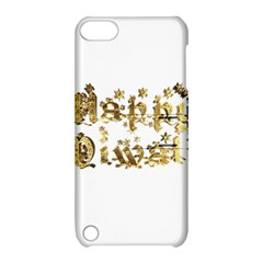 Happy Diwali Gold Golden Stars Star Festival Of Lights Deepavali Typography Apple Ipod Touch 5 Hardshell Case With Stand