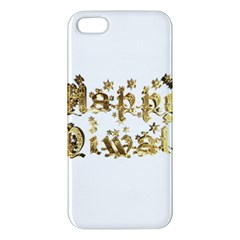 Happy Diwali Gold Golden Stars Star Festival Of Lights Deepavali Typography Apple Iphone 5 Premium Hardshell Case