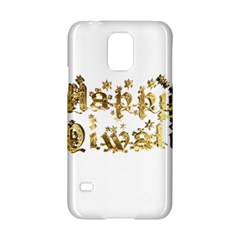 Happy Diwali Gold Golden Stars Star Festival Of Lights Deepavali Typography Samsung Galaxy S5 Hardshell Case