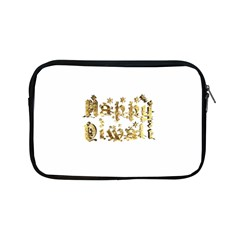 Happy Diwali Gold Golden Stars Star Festival Of Lights Deepavali Typography Apple Ipad Mini Zipper Cases