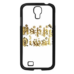 Happy Diwali Gold Golden Stars Star Festival Of Lights Deepavali Typography Samsung Galaxy S4 I9500/ I9505 Case (black)