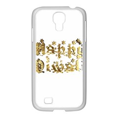 Happy Diwali Gold Golden Stars Star Festival Of Lights Deepavali Typography Samsung Galaxy S4 I9500/ I9505 Case (white)