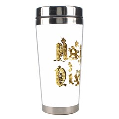 Happy Diwali Gold Golden Stars Star Festival Of Lights Deepavali Typography Stainless Steel Travel Tumblers