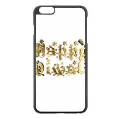 Happy Diwali Gold Golden Stars Star Festival Of Lights Deepavali Typography Apple Iphone 6 Plus/6s Plus Black Enamel Case