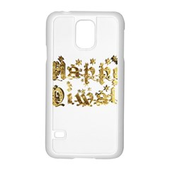 Happy Diwali Gold Golden Stars Star Festival Of Lights Deepavali Typography Samsung Galaxy S5 Case (white)