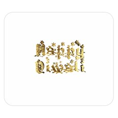Happy Diwali Gold Golden Stars Star Festival Of Lights Deepavali Typography Double Sided Flano Blanket (small)