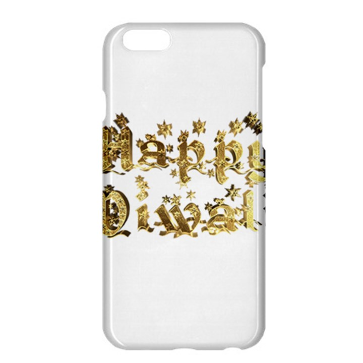 Happy Diwali Gold Golden Stars Star Festival Of Lights Deepavali Typography Apple iPhone 6 Plus/6S Plus Hardshell Case