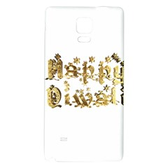 Happy Diwali Gold Golden Stars Star Festival Of Lights Deepavali Typography Galaxy Note 4 Back Case