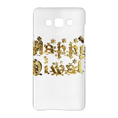 Happy Diwali Gold Golden Stars Star Festival Of Lights Deepavali Typography Samsung Galaxy A5 Hardshell Case