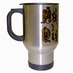 Happy Diwali Gold Golden Stars Star Festival Of Lights Deepavali Typography Travel Mug (silver Gray)