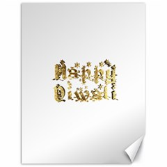 Happy Diwali Gold Golden Stars Star Festival Of Lights Deepavali Typography Canvas 18  X 24