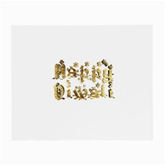 Happy Diwali Gold Golden Stars Star Festival Of Lights Deepavali Typography Small Glasses Cloth (2 Side)