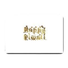 Happy Diwali Gold Golden Stars Star Festival Of Lights Deepavali Typography Small Doormat