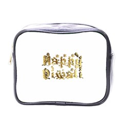 Happy Diwali Gold Golden Stars Star Festival Of Lights Deepavali Typography Mini Toiletries Bags