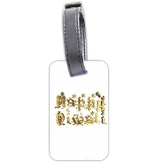 Happy Diwali Gold Golden Stars Star Festival Of Lights Deepavali Typography Luggage Tags (two Sides)