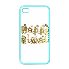 Happy Diwali Gold Golden Stars Star Festival Of Lights Deepavali Typography Apple Iphone 4 Case (color)
